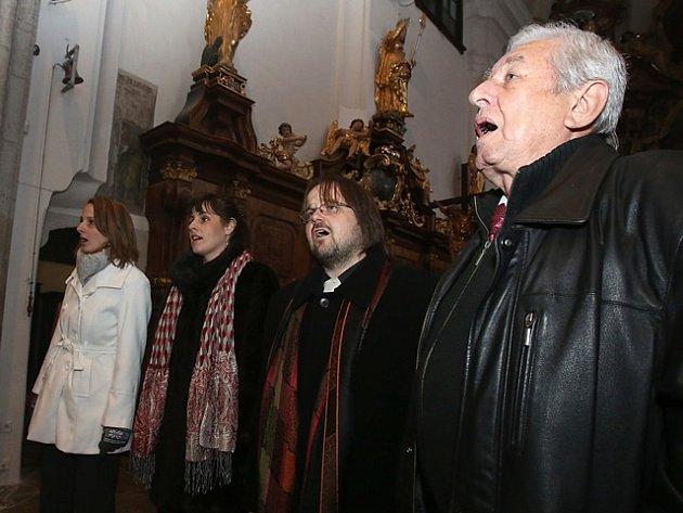 Antikvartet na snímku zprosincového koncertu vtřeboňském kostele sv. Jiljí.