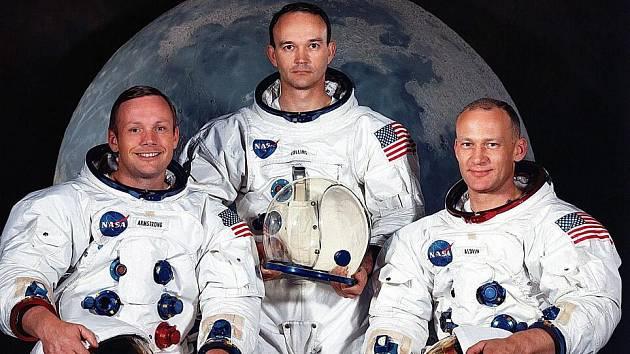 Zleva Armstrong, Collins, Aldrin.