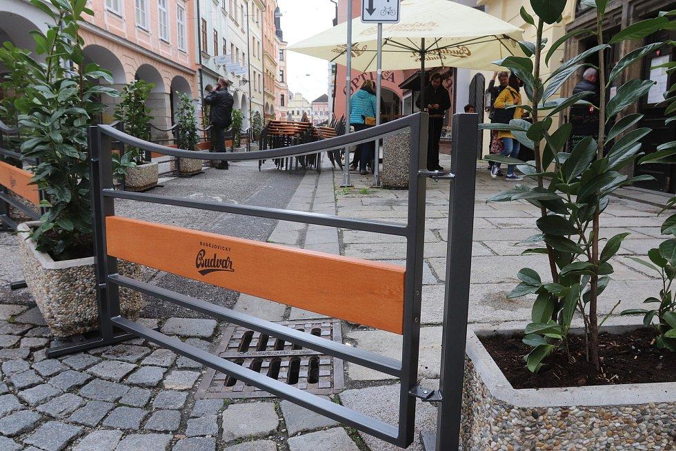 Masné krámy v Krajinské ulici v Českých Budějovicích.