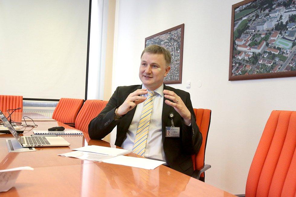 Ředitel českobudějovické nemocnice Michal Šnorek.