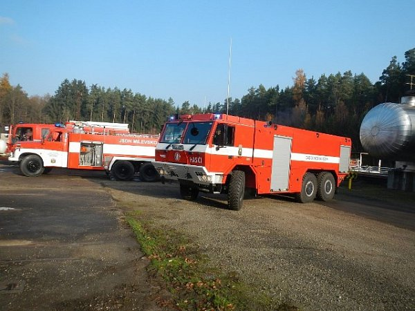 Cvičný únik plynu řešili hasiči vBranicích na Písecku.