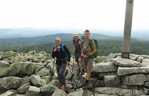 Na vrcholu Luzného.