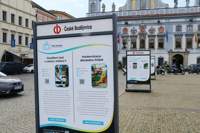 Malé projekty na českobudějovickém náměstí.