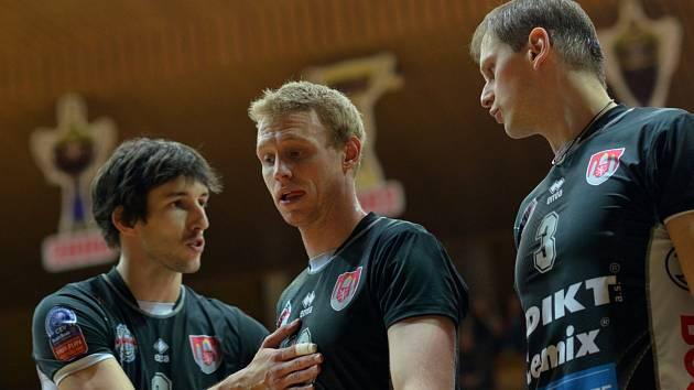Uniqa volejbalová  extraliga mužů mezi VK Jihostroj České Budějovice a Aero Odolena Voda.