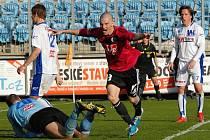 Zdeněk Ondrášek se raduje ze svého gólu v zápase s Ústím.