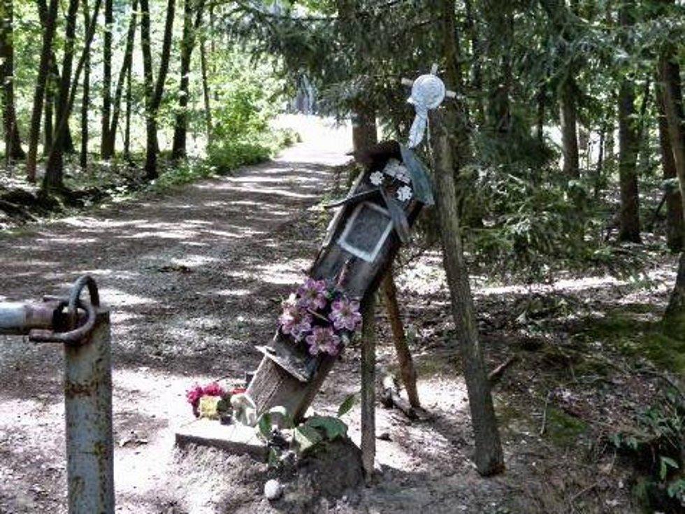 UHNILA. Boží muka stojí v Branišovském lese už desítky let.