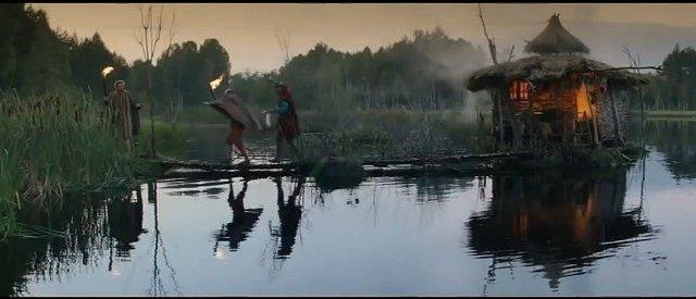 Chýši baby z bažin filmaři opatrně umístili na močálové jezero v chráněné přírodní rezervaci Borkovická blata na Soběslavsku.