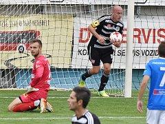 Ivo Táborský dal z penalty vyrovnávací gól na 1:1, a tak také zápas Dynama s Frýdkem-Místkem skončil.
