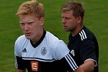 Trenér David Horejš s Danielem Frnochem.