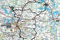 Mapa letošního ročníku Křivonosky.