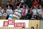 Uniqa volejbalová extraliga mužů. 2. semifinálový zápas playoff mezi VK Jihostroj České Budějovice a VSC Fatra Zlín.