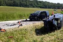 Vážná dopravní nehoda se stala v pátek u Nových Hradů.
