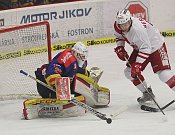 Prvním zápasem mezi Motorem a Slavií Praha pokračoval boj a postup do baráže.