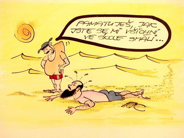 To nejlepší z devíti Mezinárodních bienále kresleného humoru v Písku nabízí výstava v tamní Sladovně.