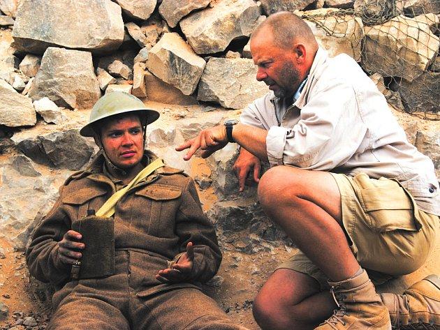 Režisér Václav Marhoul při natáčení v Tunisku.