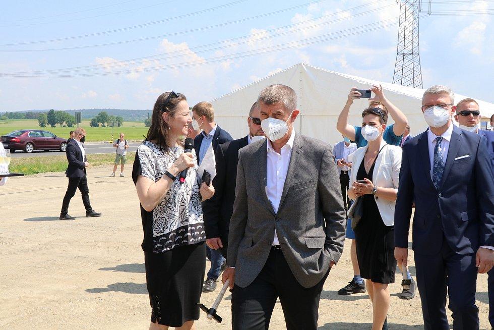 Zahájení výstavby dálnice u Letů na Písecku.