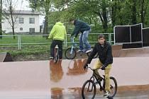 Nově otevřený skatepark v Týně nad Vltavou.