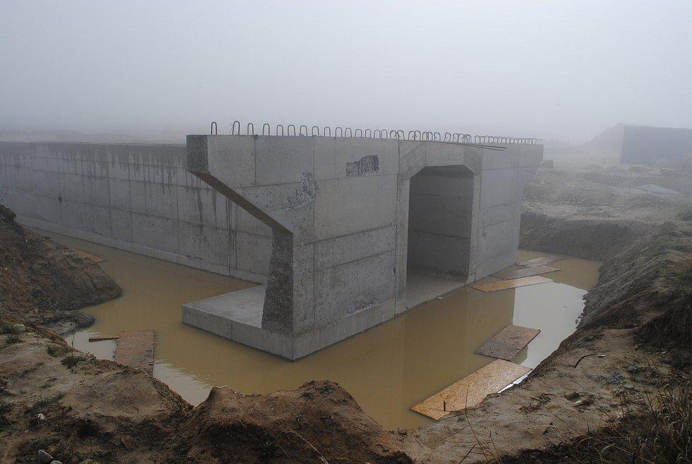 Výstavba D3 u Krasejovky.