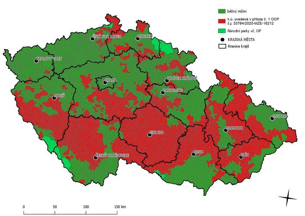 Ministerstvo zemědělství aktualizovalo červenou zónu lesů zasažených kůrovcem. Majitelé lesů v ní mohou soustředit všechny síly na potlačení kalamity.