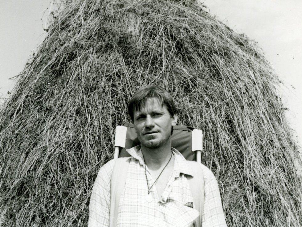Spisovatel Miroslav Hule v roce 1980 na Fagaraši.
