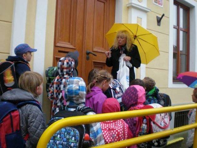 První školní den na ZŠ Římov.