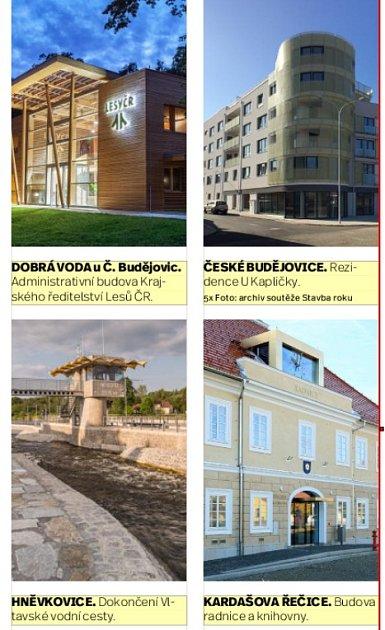 Soutěžící stavby.