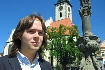 Stanislav Fořt na náměstí v Táboře.