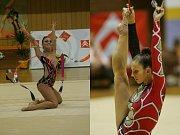 Moderní gymnastka Aneta Fujdiarová.