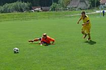 Filip Ardamica z Dynama ze zápasu s Olomoucí
