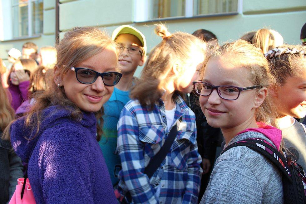 První školní den na ZŠ Matice školské.
