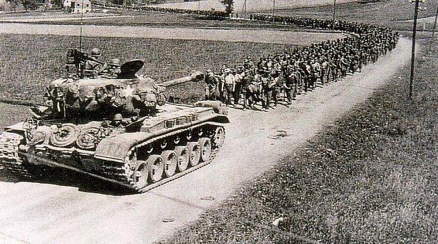 Ženou Němce do zajetí.