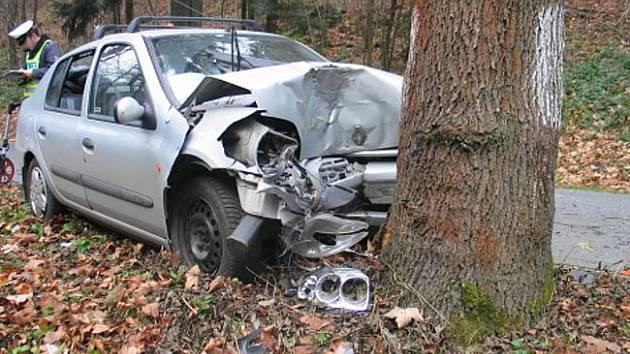 Trojice mladých lidí havarovala před dvěma týdny na silnici z Hůr do Úsilného. Jejich vozidlo Citroen Berlingo dostalo v mírné levotočivé zatáčce smyk a narazilo v protisměru do stromu. Všichni tři cestující utrpěli při nehodě zranění a skončili v nemocn
