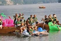 Traunkirchenští si vodní koncert vychutnali.