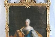Portrét císařovny Marie Terezie.