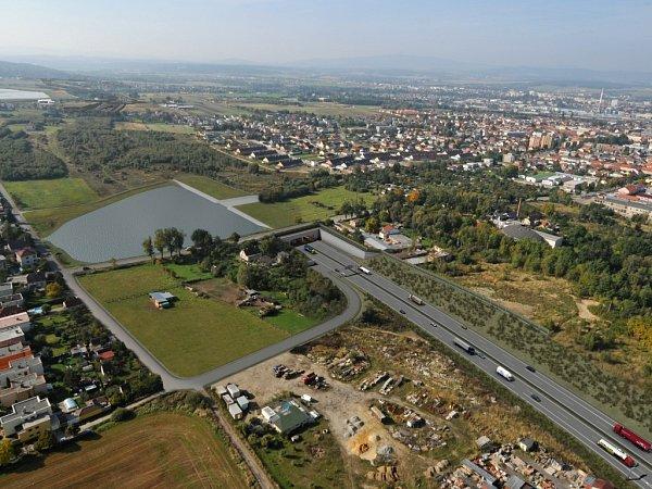 Plánovaná podoba dálnice D3 vokolí Českých Budějovic.