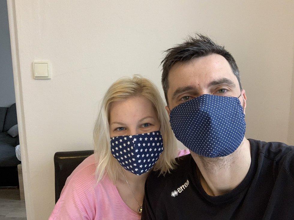 Volejbalisté Jihostroje v době pandemie. Tomáš Fila s manželkou