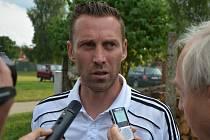 Jan Šimák po zápase Dynama s Brnem v Kamenici nad Lipou odpovídá na dotazy Deníku jižní Čechy.