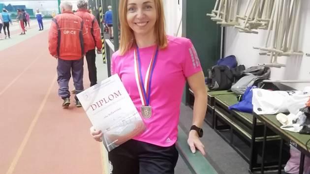 Jitka Bočkayová přivezla z mistrovství ČR veteránů dva tituly.