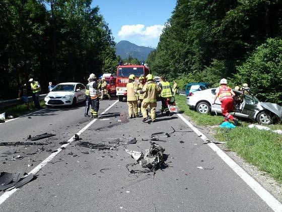 Na místě nehody.