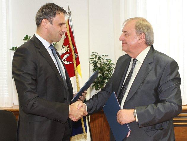 Jiří Zimola (vlevo) a Petr Braný.