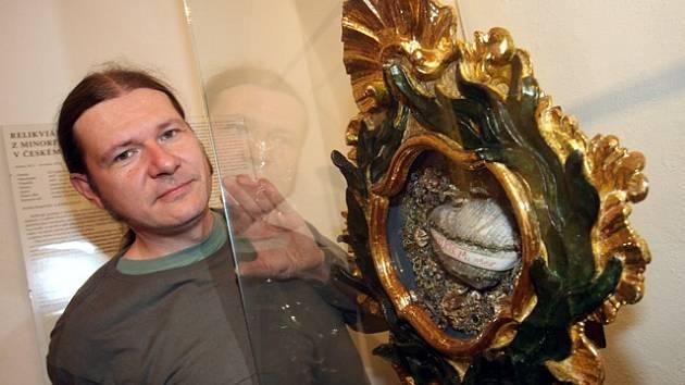 Martin Zmeškal restauroval relikviář z Českého Krumlova.
