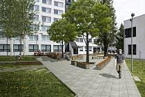 Vizualizace budoucí podoby odpočinkové zóny v kampusu českobudějovické VŠTE. Vizualizace: VŠTE