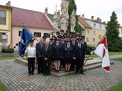 PRAPOR. Vysvěcení nového praporu se dočkali hasiči z Horní Stropnice při letošních oslavách založení města.