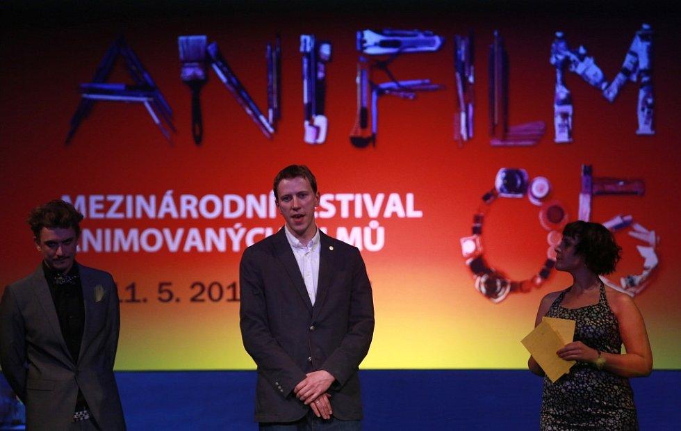 Anifilm 2014, Třeboň. Producent Anifilmu Tomáš Rychecký.