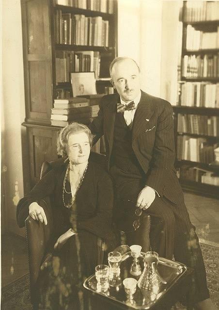 Edvard Beneš s manželkou Hanou.