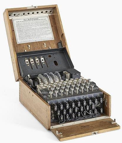 Amatéři našli šifrovací stroj.