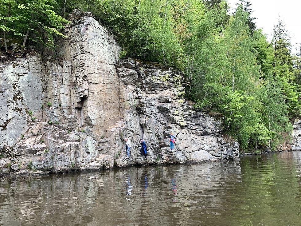 Ferrata Hluboká je delší o 400 metrů.