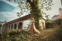 Herečka Hana Vagnerová nafotila propagační snímky na zámku Vimperk.