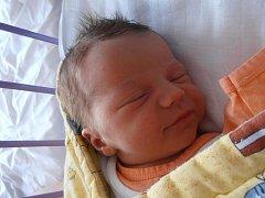Dvouletý Ríša už se doma v Českých Budějovicích nemůže dočkat brášky Ondřeje Veselého. Ten přišel v českobudějovické porodnici na svět 23.4.2012 v 7 hodin a 54 minut. Po narození vážil 3,81 kg.