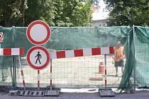 Oprava mostu v Kněžské ulici.